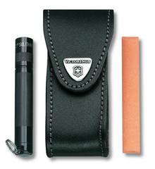 Чехол кожаный Victorinox, черный с застежкой Velkro для Swiss Army Knives or EcoLine 91 мм 4.0520.32