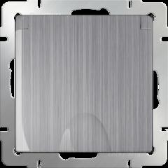 Розетка влагозащ. с зазем. с защит. крышкой и шторками (глянцевый никель) WL02-SKGSC-01-IP44 Werkel