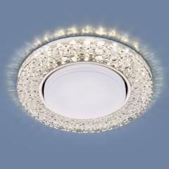 Встраиваемый точечный светильник с LED подсветкой 3029 GX53 CL прозрачный Elektrostandard