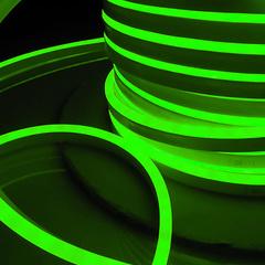 Светодиодный гибкий неон LS001 220V 9.6W 120Led 2835 IP67 односторонний зеленый Elektrostandard