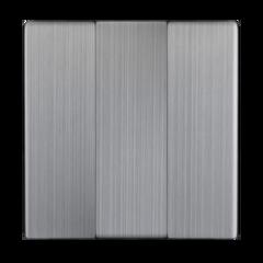 Набор клавиш для выключателя трехклавишного (глянцевый никель) WL02-SW-3G-CP Werkel