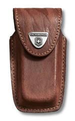 Чехол кожаный Victorinox, коричневый для Swiss Army Knives or EcoLine 91 мм, толщина ножа 5-8 уровне 4.0535