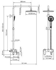 A18501 Душевой комплект со смесителем WasserKRAFT