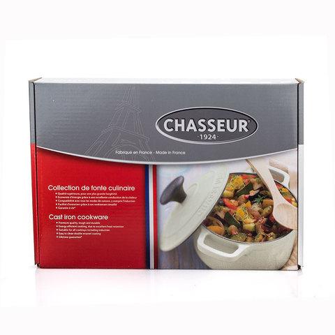 Сковорода чугунная гриль 26x26 см с эмалированным покрытием, квадратная, CHASSEUR арт. 315001