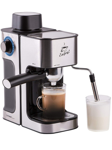Кофеварка Espresso 0,6л FIRST FA-5475-2 Black-Bruched