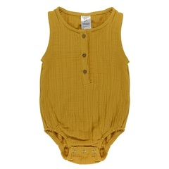 Боди из хлопкового муслина горчичного цвета из коллекции Essential 9-12M Tkano TK20-KIDS-BOD0003