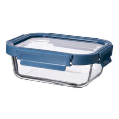 Контейнер для еды Smart Solutions стеклянный 370 мл темно-синий ID370RC_7708C