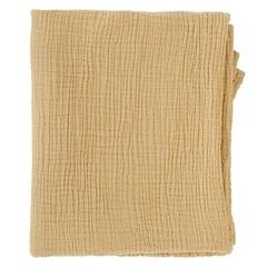 Одеяло из жатого хлопка горчичного цвета из коллекции Essential 90x120 см Tkano TK20-KIDS-BLK0001