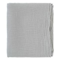 Одеяло из жатого хлопка серого цвета из коллекции Essential 90x120 см Tkano TK20-KIDS-BLK0002