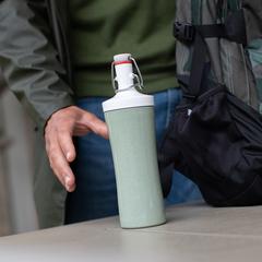 Бутылка для воды PLOPP TO GO Organic 425 мл зеленая Koziol 3796314