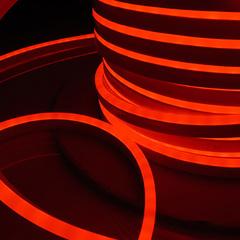 Светодиодный гибкий неон LS001 220V 9.6W 120Led 2835 IP67 односторонний красный Elektrostandard