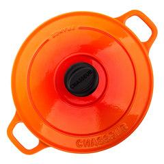 Кастрюля чугунная 20 см (2,3л) CHASSEUR Orange (цвет: оранжевый) арт. 372007