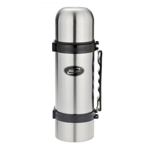Термос Biostal (1,8 литра) с ручкой, стальной