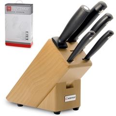 Набор из 4 кухонных ножей, мусата и подставки WUSTHOF Silverpoint арт. 9829