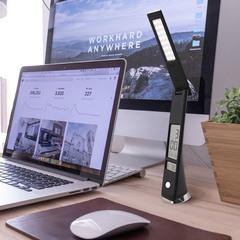 Светодиодная настольная лампа с часами 80504/1 черный Eurosvet