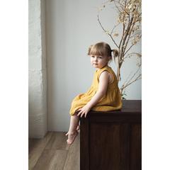 Платье без рукава из хлопкового муслина горчичного цвета из коллекции Essential 18-24M Tkano TK20-KIDS-DRS0002