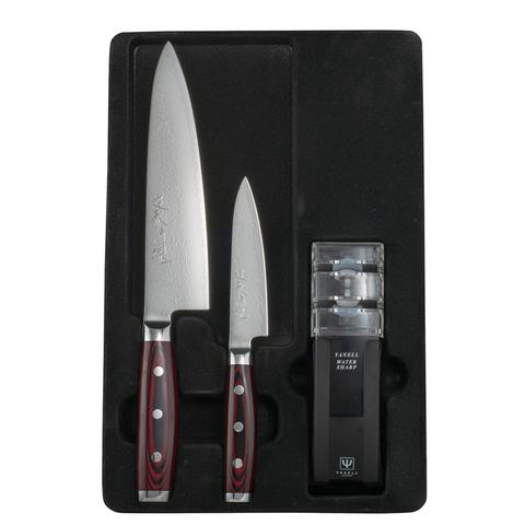 Набор из 2 кухонных ножей YAXELL GOU 161 и точилки арт. YA37100-003