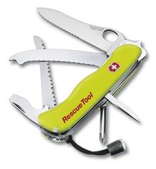 Нож Victorinox Rescue Tool One Hand, 111 мм, 14 функций, желтый* 0.8623.MWN