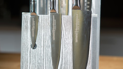 Комплект из 6 ножей Samura BAMBOO и серой подставки