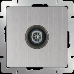 ТВ розетка оконечная (глянцевый никель) WL02-TV Werkel