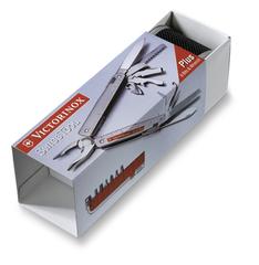 Мультитул Victorinox SwissTool Spirit 38, 105 мм, 38 функций, кожаный чехол 3.0238.L