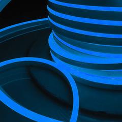 Светодиодный гибкий неон LS001 220V 9.6W 120Led 2835 IP67 односторонний синий Elektrostandard