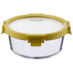 Контейнер для еды Smart Solutions стеклянный 950 мл желтый ID950RD_127C