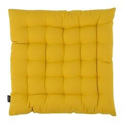 Подушка на стул из хлопка горчичного цвета из коллекции Prairie, 40х40 см Tkano TK20-CP0002
