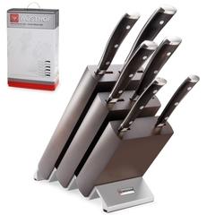 Набор из 6 кухонных ножей и подставки WUSTHOF Ikon арт. 9866 WUS