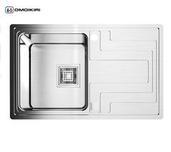 Кухонная мойка из нержавеющей стали OMOIKIRI Mizu 78-1-L (4993011)