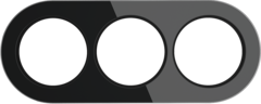 Рамка на 3 поста (Черный) WL21-frame-03 Werkel