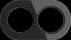 Рамка на 2 поста (Черный) WL21-frame-02 Werkel