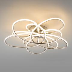 Потолочный светодиодный светильник с пультом управления Eurosvet Spring 90143/5 хром