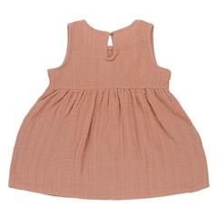 Платье без рукава из хлопкового муслина цвета пыльной розы из коллекции Essential 12-18M Tkano TK20-KIDS-DRS0006