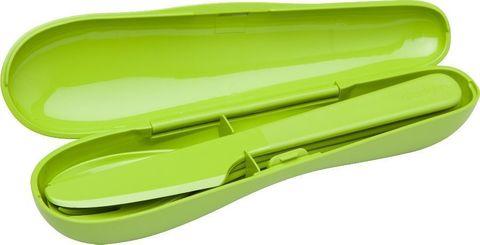Набор из 3 столовых приборов в футляре Aladdin зеленый