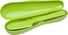 Набор из 3 столовых приборов в футляре Aladdin зеленый 10-01374-025- зеленый