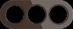 Рамка на 3 поста (Коричневый) WL21-frame-03 Werkel