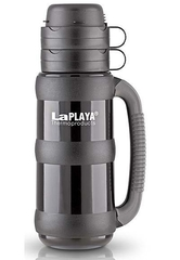 Термос LaPlaya Traditional 35-100 (1 литр) со стеклянной колбой, черный 560007