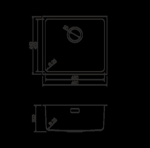 Кухонная мойка из нержавеющей стали OMOIKIRI Tadzava 49-GM (4993076)