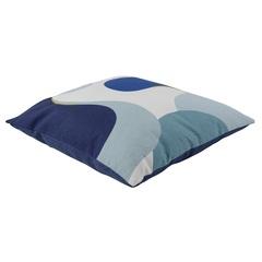 Подушка декоративная из хлопка синего цвета с авторским принтом из коллекции Freak Fruit, 45х45 см Tkano TK20-CU0005