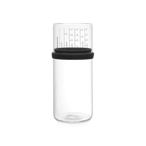 Стеклянная банка с мерным стаканом 1 л Brabantia 290282