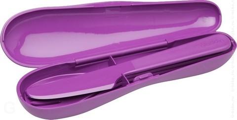 Набор из 3 столовых приборов в футляре Aladdin фиолетовый