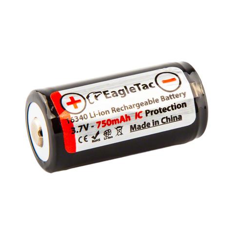 Аккумулятор Li-Ion EagleTac 16340 PCB 750 mAh, 3.7В