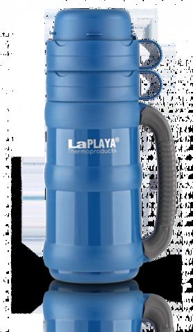 Термос LaPlaya Traditional 35-100 (1 литр) со стеклянной колбой, синий 560005