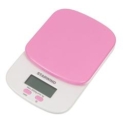 Весы кухонные электронные Starwind, до 2 кг, 2хААА, розовые SSK2157
