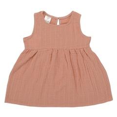 Платье без рукава из хлопкового муслина цвета пыльной розы из коллекции Essential 4-5Y Tkano TK20-KIDS-DRS0010