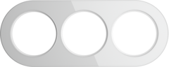 Рамка на 3 поста (Белый) WL21-frame-03 Werkel