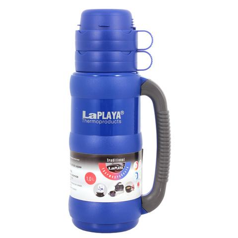 Термос LaPlaya Traditional 35-100 (1 литр) со стеклянной колбой, ярко-синий* 560006