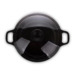Кастрюля чугунная со стеклянной крышкой 20см (2,3л) INVICTA Taupe арт. 352005