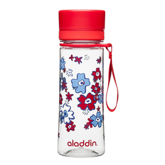 Бутылка для воды Aladdin Aveo (0,35 литра) с красным узором 10-01101-086